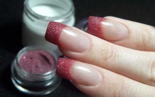 Наращивание ногтей с помощью акриловой пудры: пошаговая инструкция