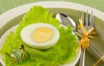 Состав вареного яйца: БЖУ