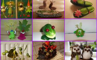 Необычные и интересные поделки из природных материалов на разные случаи