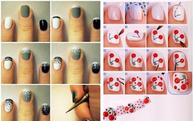 Как сделать рисунки на ногти в домашних условиях