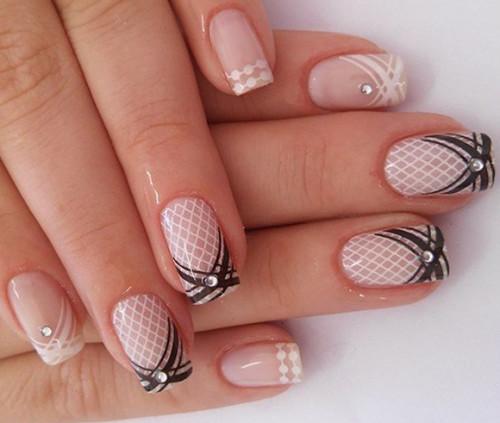 дизайн ногтей со стемпингом