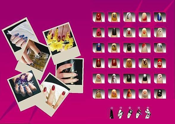 виниловые наклейки для ногтей