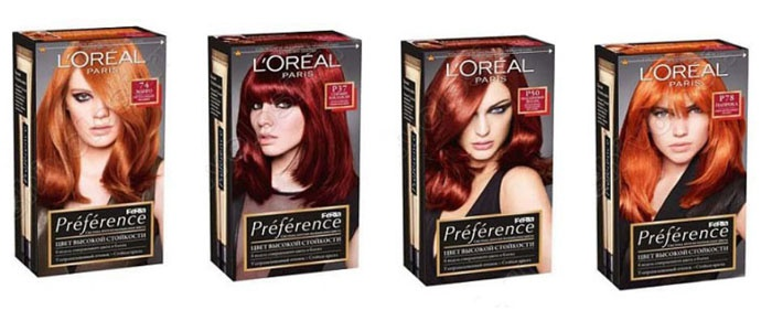 Краска для волос палитра цветов фото на волосах лореаль