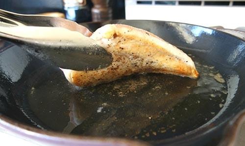 обжаривание куриного филе