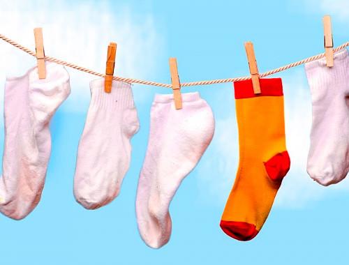 постиранные носки
