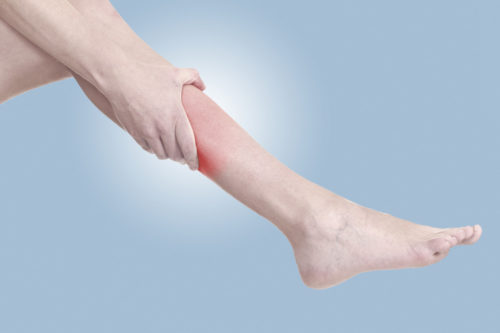 судорога свела ногу