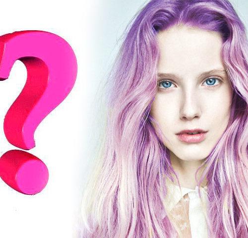 девушка с фиолетовыми волосами