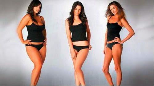 девушки с разными типами телосложения