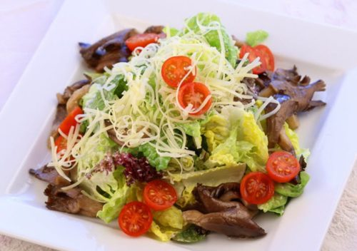 Салат из вешенок фото