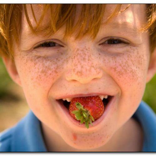 конопушки на лице у ребенка