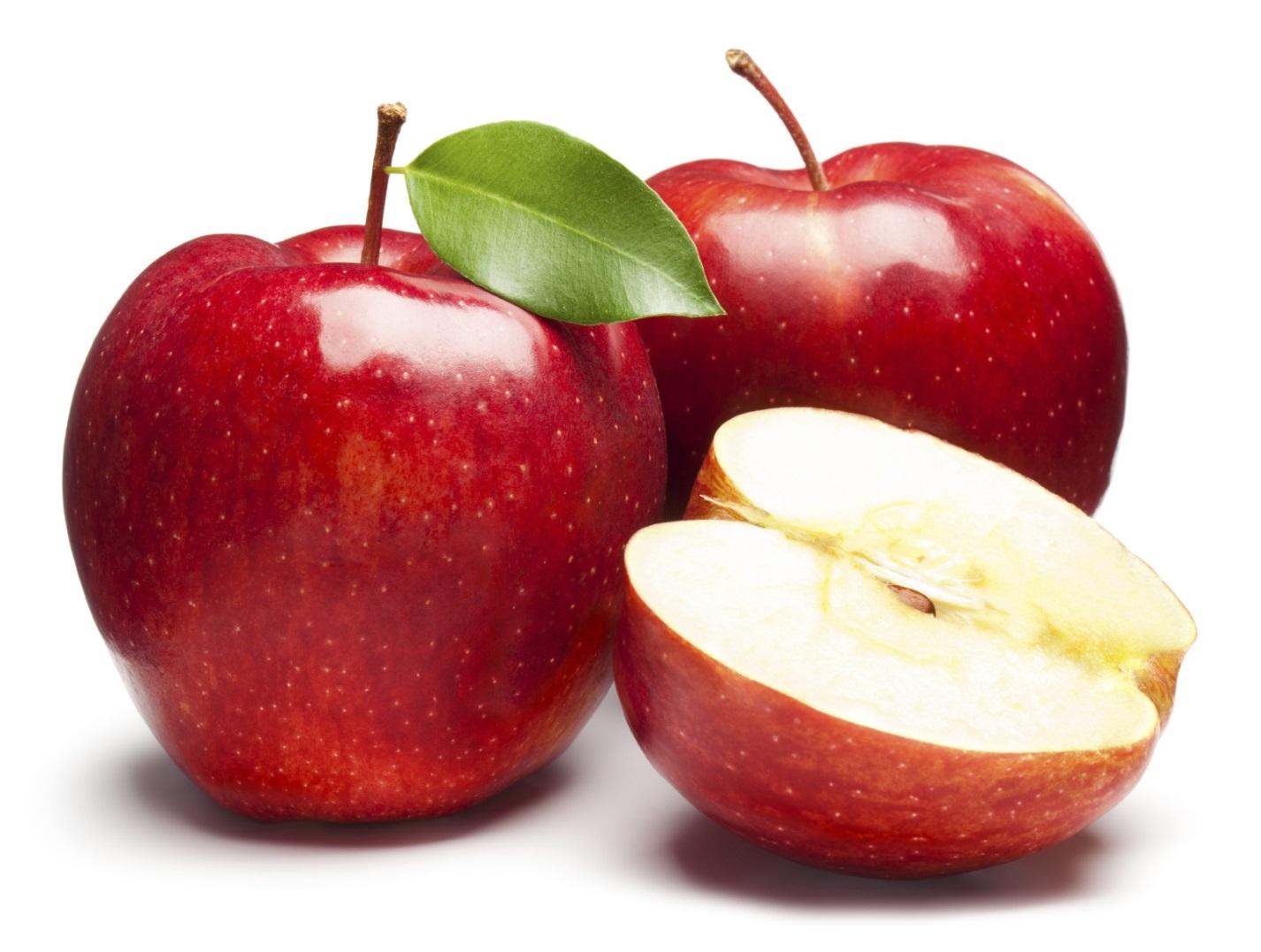 целые и разрезанное яблоко