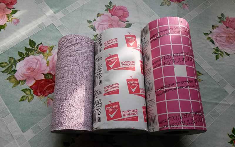 бумажные кухонные салфетки и полотенца