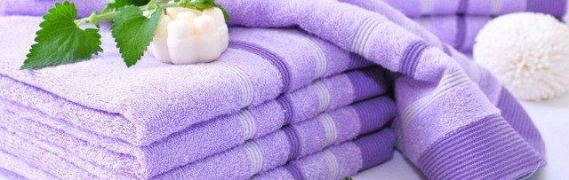 чистые махровые полотенца
