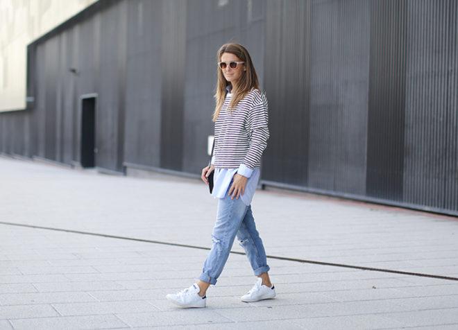 Утепляемся по-модному: с чем лучше носить джинсы-бойфренды зимой