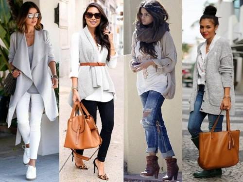 Кардиган и джинсы