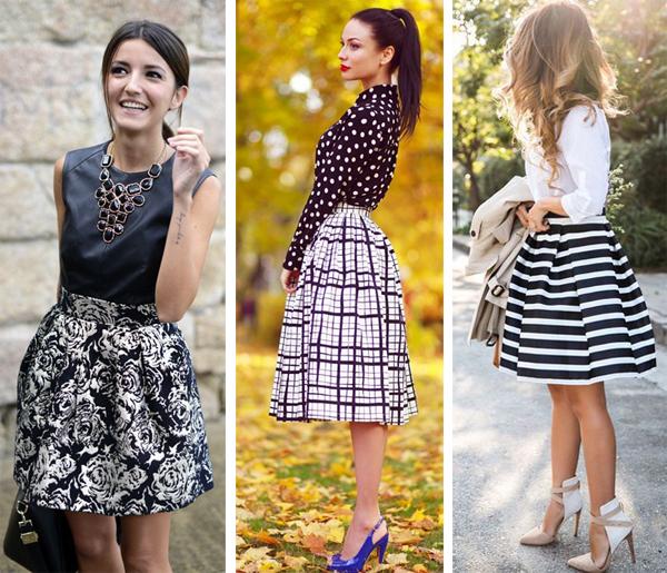 Как носить юбку колокол до колена
