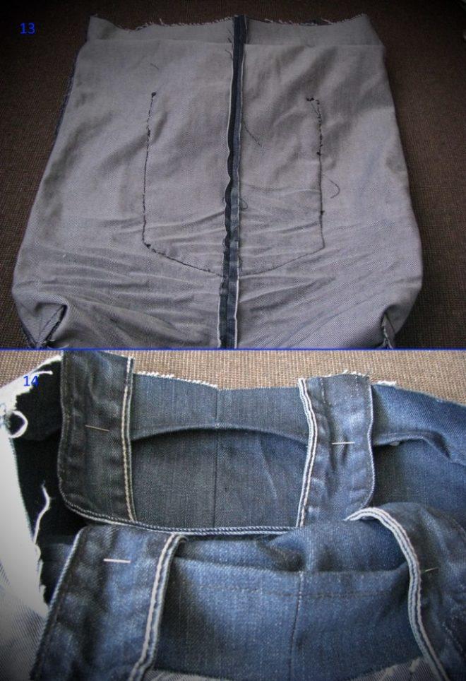 kak-poshit-sumku-iz-staryh-dzhinsov-13-14 Большая пляжная сумка из старых джинсов своими руками