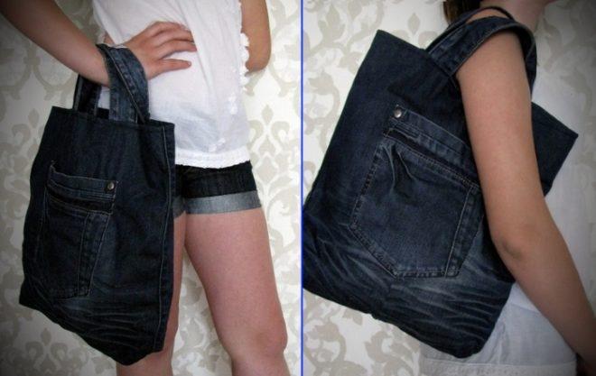 kak-poshit-sumku-iz-staryh-dzhinsov-21-22 Большая пляжная сумка из старых джинсов своими руками