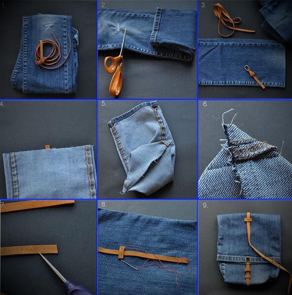kak-poshit-sumku-iz-staryh-dzhinsov-34 Большая пляжная сумка из старых джинсов своими руками