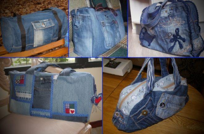 kak-poshit-sumku-iz-staryh-dzhinsov-39 Большая пляжная сумка из старых джинсов своими руками