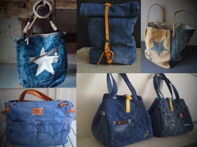 kak-poshit-sumku-iz-staryh-dzhinsov-7 Большая пляжная сумка из старых джинсов своими руками