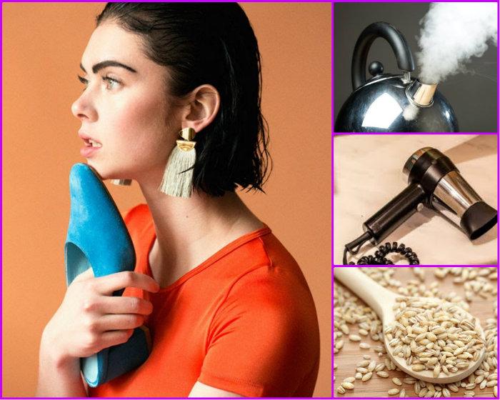Несколько способов растяжки туфлей