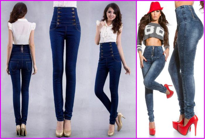 Варианты женских брюк с высокой талией