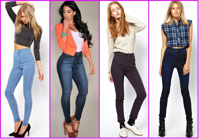 Варианты женских брюк с завышенной талией