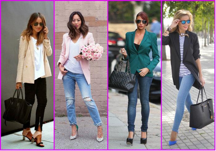 Варианты женских брюк в сочетании с жакетом