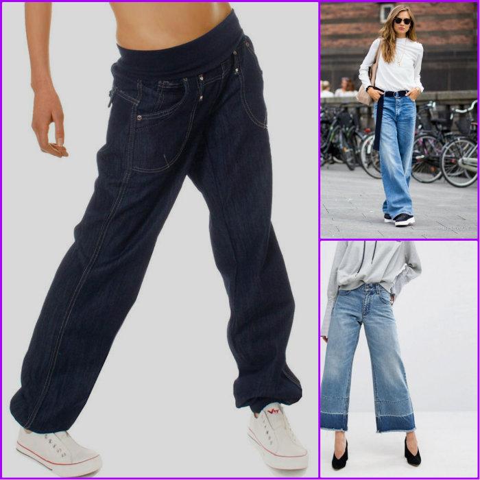 Варианты женских широких брюк