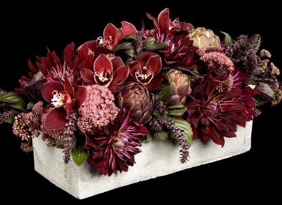 Композиции из цветов в интерьере