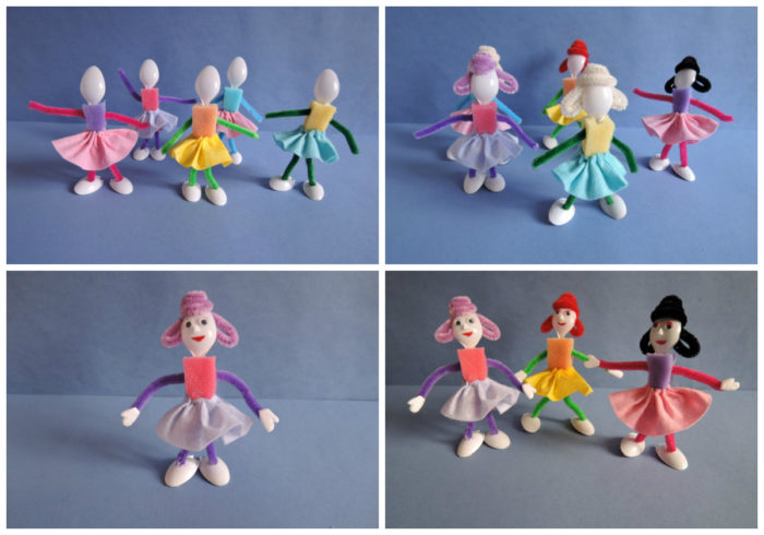 Мастер-класс по изготовлению кукол. Шаг 9-12.