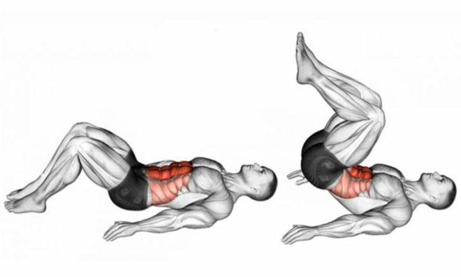 проработка мышц пресса